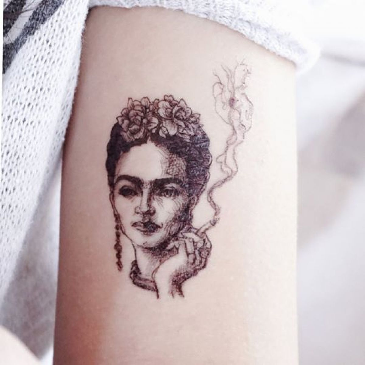 Frida Kahlo Black Tattoo
